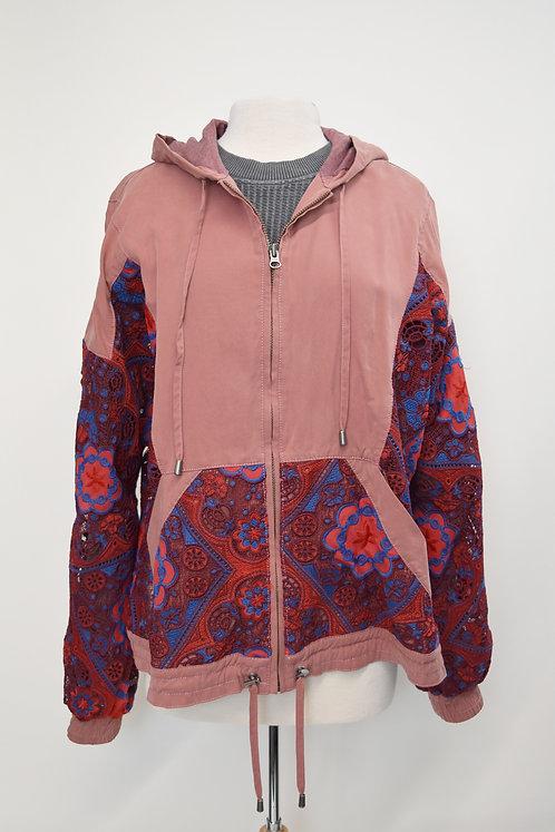Free People Pink Lace Jacket Size Large
