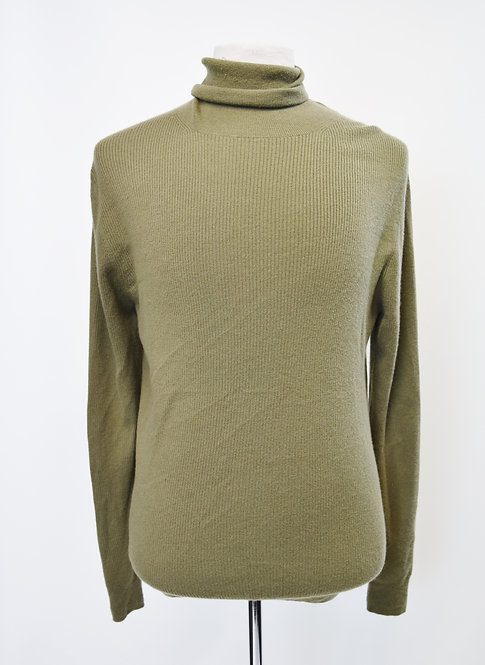 Burberry Green Cashmere Turtle Neck Sweater Size Large