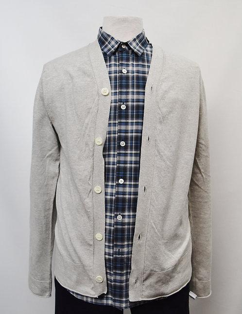 Comme Des Garcons Gray Cardigan Size Medium