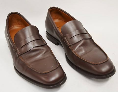 Aquatalia Brown Leather Loafers Size 7