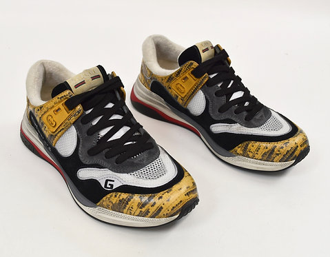 Gucci Black & Yellow Ultrapace Sneakers Size 8