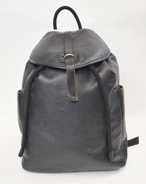 Alexander McQueen Black Leather Backpack