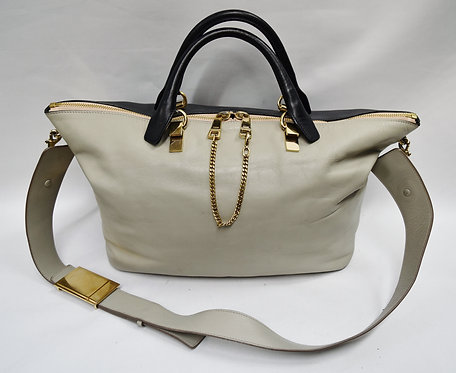 Chloe Large Two-Tone Baylee Large Leather Tote