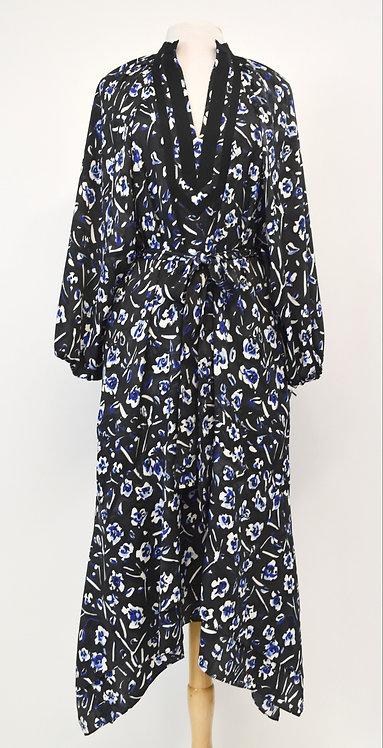 Tory Burch Black Floral Maxi Dress Size Medium (10)