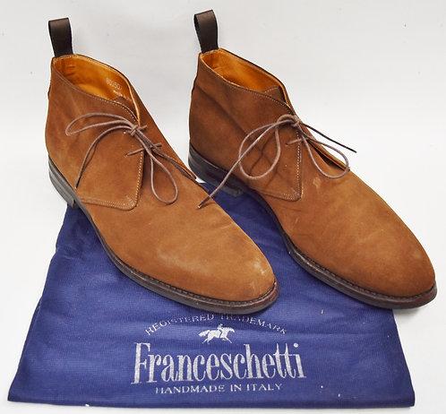 Franceschetti Brown Suede Boots Size 9.5