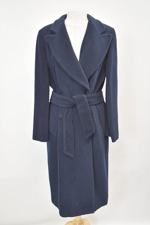 Giorgio Armani Navy Wool Coat Size Large