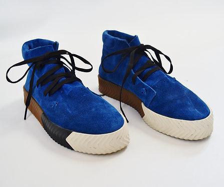 Alexander Wang x Adidas Blue Suede Sneakers Size 10