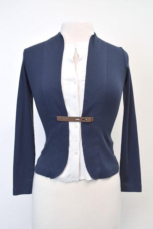 Fabiana Fillipi Navy Button-Down Sweater Size XS