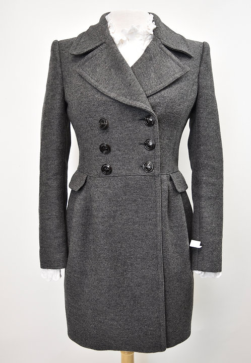 Burberry Gray Wool Peacoat Size Small (6)