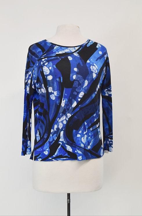 Emilio Pucci Blue Print Top Size Large (12)