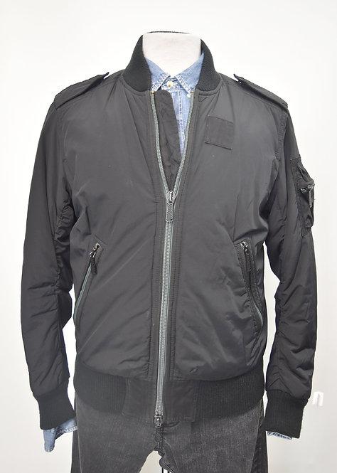 Diesel Black Bomber Zip-Up Jacket Size Medium