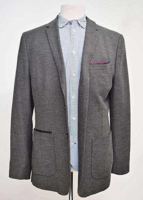 Ted Baker Gray Knit Blazer Size 44R