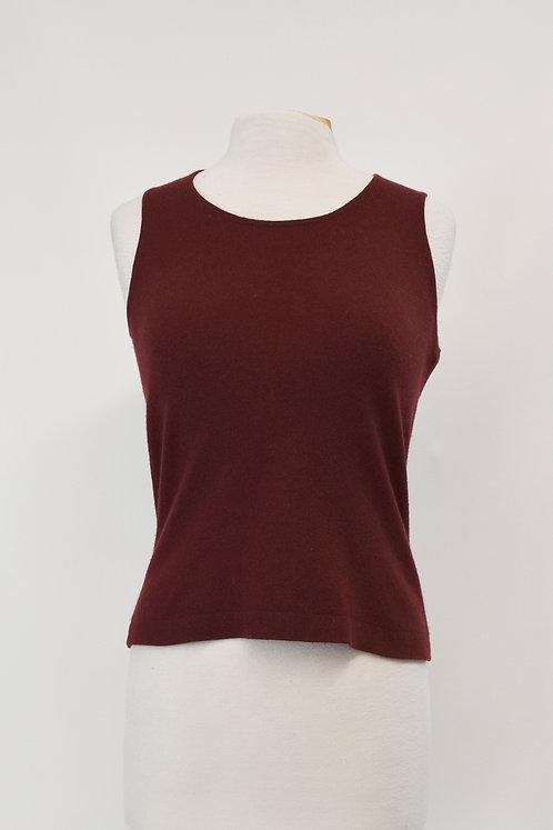 TSE Maroon Sleeveless Sweater Size Small