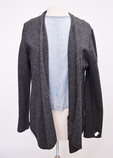 Eileen Fisher Gray Wool Cardigan Size Large
