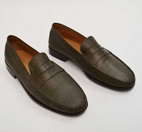 Tod's Green Leather Loafers Size 11
