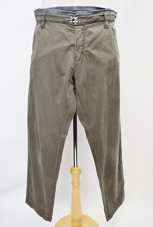 Frankie Morello Green Straight Pants Size 36