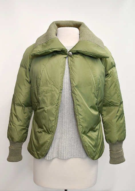 St. John Sport Green Puffer Jacket Size 6