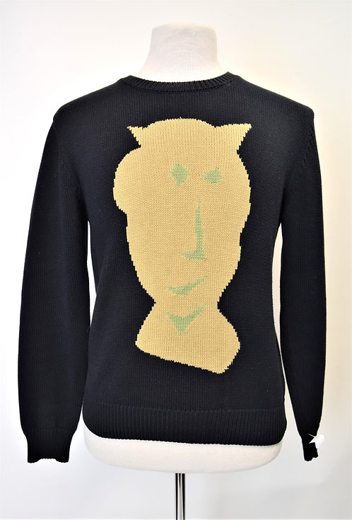 """Carven Navy & Yellow """"Vallauris"""" sweater Size Large"""