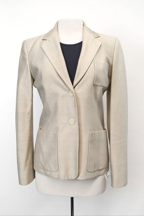 Celine Beige Dupioni Blazer Size Medium (8)