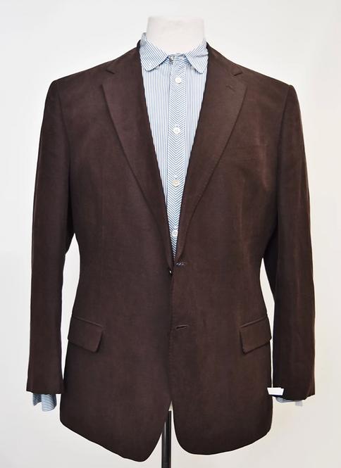 Armani Collezioni Brown Linen Blazer Size 44R