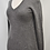Thumbnail: Scoop Gray Cashmere Sweater Size Small