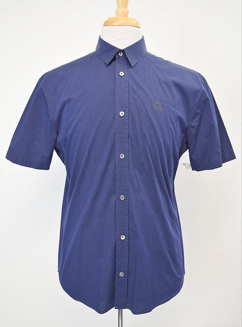 Alexander McQueen Navy Short Sleeve Shirt Size Medium