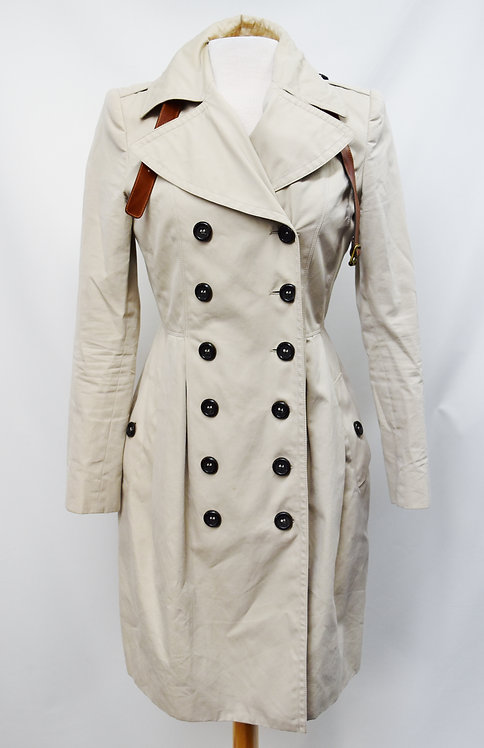 Burberry Beige Trench Coat Size 6