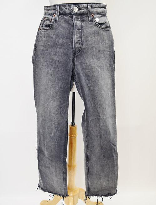 "TRAVE Gray ""Blake"" Cropped Jeans Size 27"