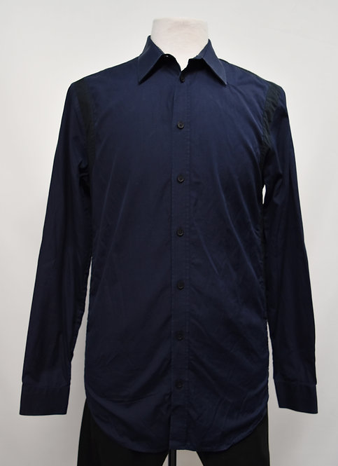 Givenchy Navy & Black Dress Shirt Size Large