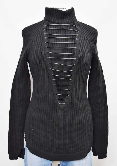 Givenchy Black Turtle Neck Sweater Size Small