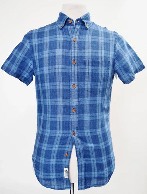 J. Crew Blue Plaid Linen Shirt Size XS