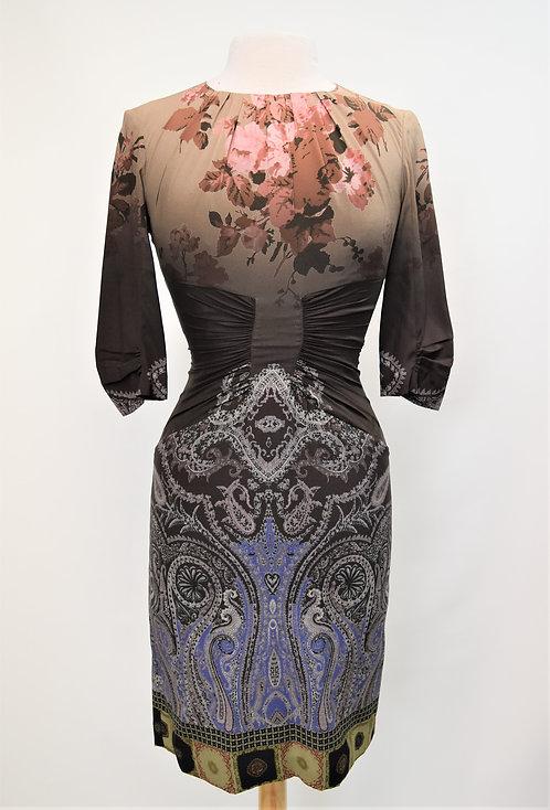 Etro Multi-Print Silk Dress Size Small