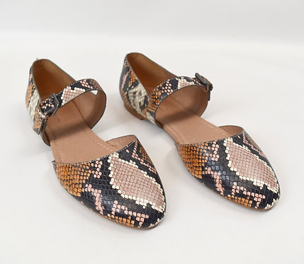 Madewell Snake Skin Embossed Leather Flats Size 9.5