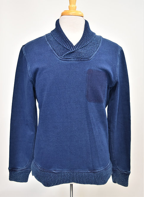 Madison Supply Blue Chambray Sweater Size Large