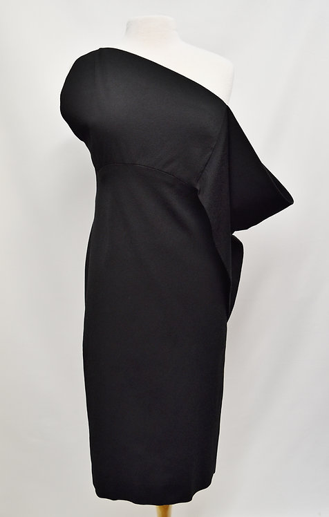 Tom Ford Asymmetrical Black Dress Size 8