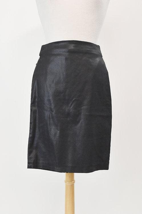 AllSaints Black Leather Skirt Size XS (2)
