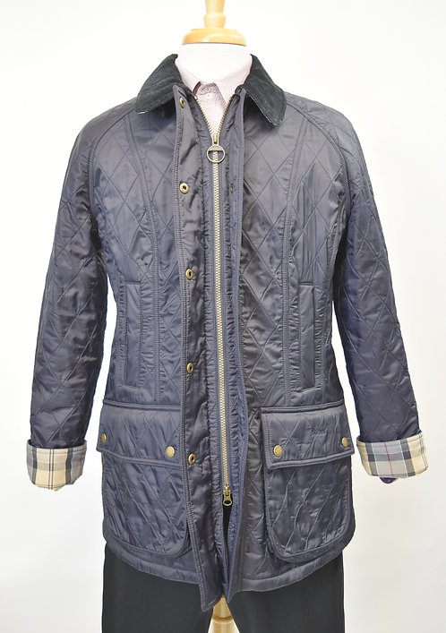 Barbour Navy Quilted Jacket Size Large