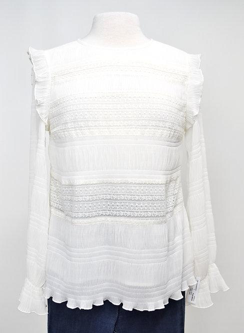 Velvet By Graham & Spencer White Lace Blouse Size Small