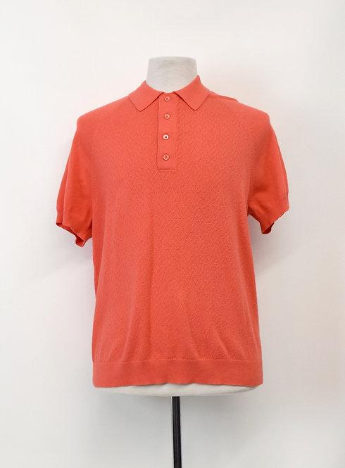 Mr Turk Orange Knit Polo Size Large