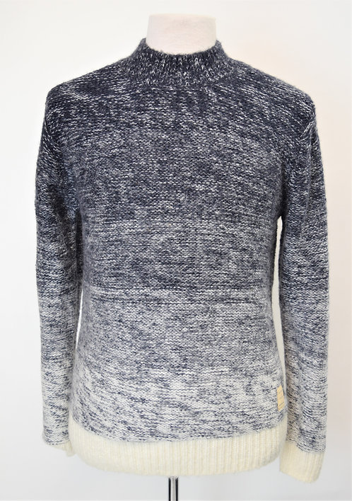 Scotch & Soda Blue Ombre Knit Sweater Size Medium