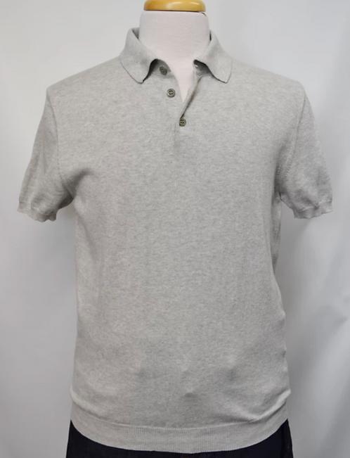 Malo Gray Cotton Polo Size Medium