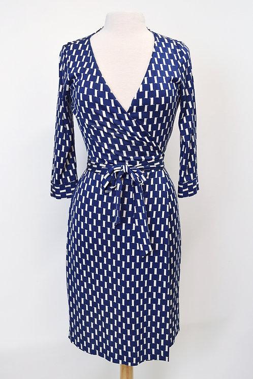 Diane Von Furstenberg Blue Wrap Dress Size 6