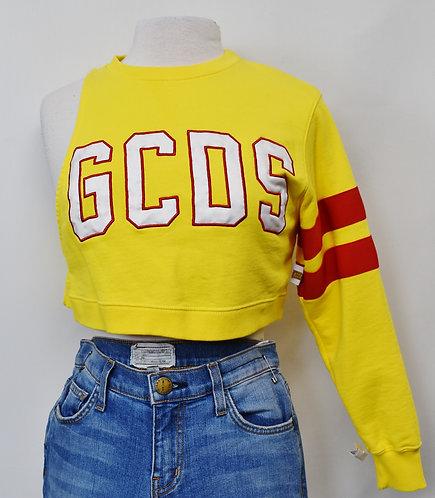 GCDS Yellow Cropped Sweatshirt Size XS
