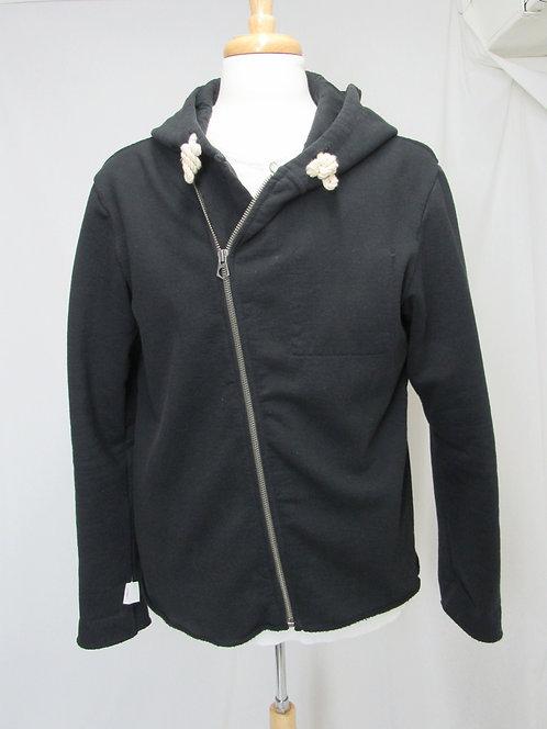 Ever Black Cotton Hoodie Size Medium