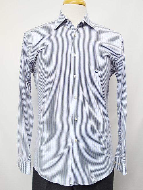 Etro Blue Stripe Shirt Size Medium