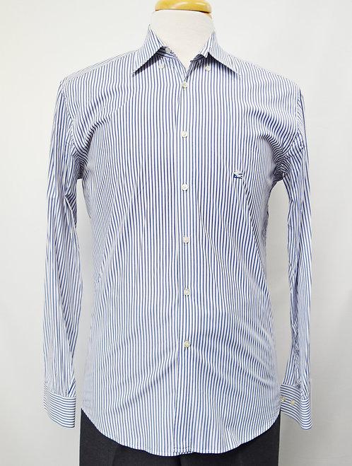 Etro Blue Stripe Shirt Size Medium