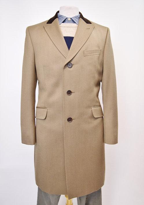 Thomas Pink Tan Wool Coat Size Medium