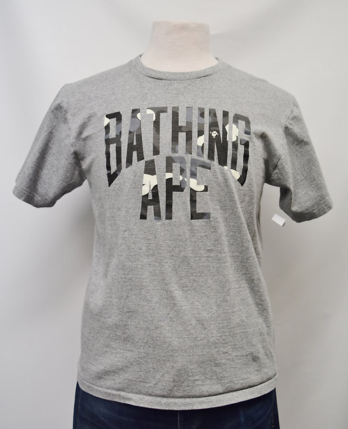 Bathing Ape Gray T-Shirt Size Medium