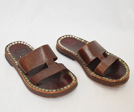 Calleen Cordero Brown Leather Sandals Size 8