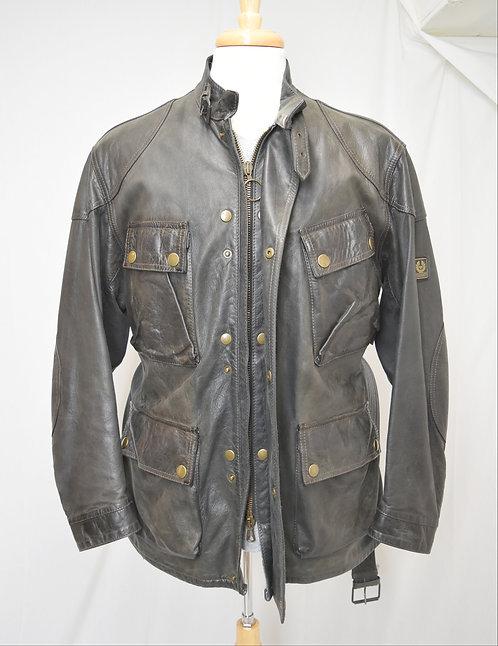 Belstaff Brown Leather Jacket Size Large